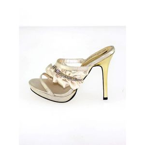 femme sandalette chaussure Strass occupé High Heels or 4nhhmIcac