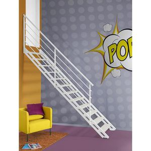 ESCALIER Escalier droit pour intérieur Fontanot POP acier p