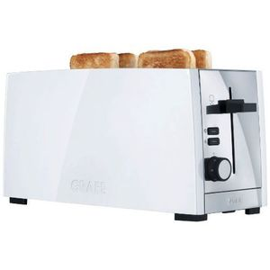 GRILLE-PAIN - TOASTER GRAEF TO101 Grille-pain - Blanc inox
