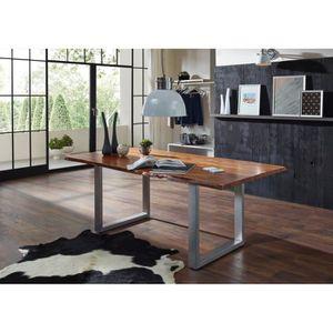 TABLE À MANGER SEULE Table à manger 160x100cm – Fer et bois massif d'ac