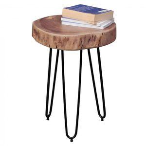 TABLE D'APPOINT Table d'appoint ronde 35 x 35 cm avec un plateau e