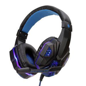 CASQUE AVEC MICROPHONE Casque de jeu PS4 casque filaire PC casque stéréo