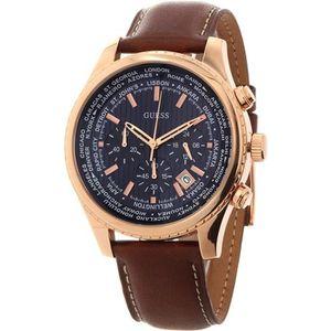 3804e5a39177 GUESS Legacy Homme 45mm Bracelet Silicone Bleu Quartz Montre W1049G2 ...