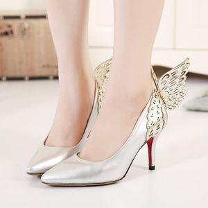 ESCARPIN Escarpins Chaussures Femme avec papillon à talon