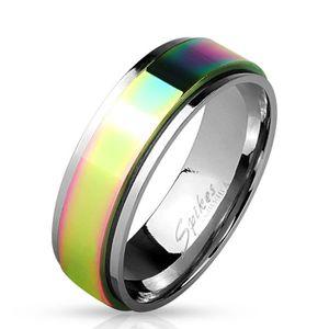BAGUE - ANNEAU Bague homme tournante rainbow (70 (Circonférence :