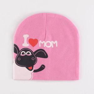 Bébé Bonnet Tricoté Nouveau-né J aime Maman et Papa Cartoon Vache ... 7eef1a36872