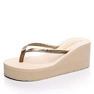 0791d2ac290080 SANDALE DE PISCINE Tongs Femmes Talon Compensé Chaussures bohémien P