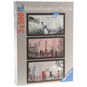 PUZZLE Puzzle Ville Artistique 3x500pcs