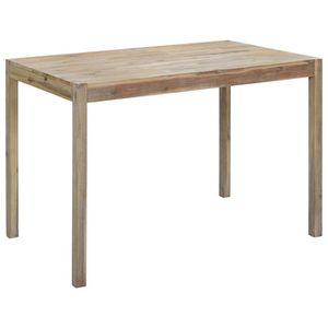 TABLE À MANGER SEULE vidaXL Table de salle à manger 120x70x75 cm Bois d