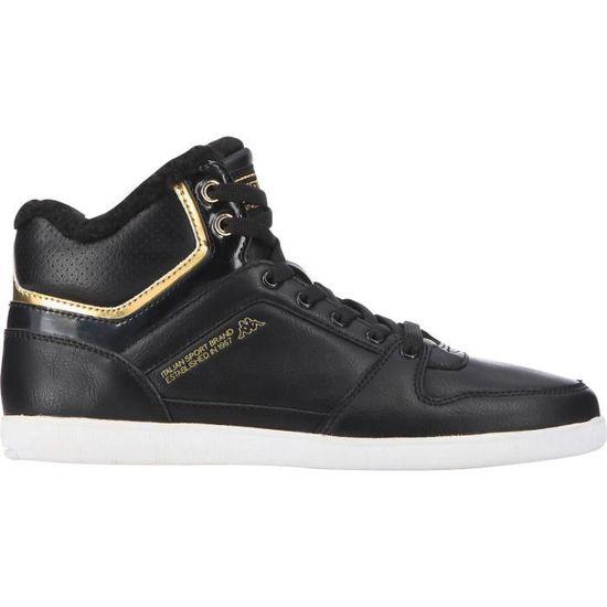 KAPPA Chaussures Ussel FUR MID - Femme - Noir / Or  Noir et or - Achat / Vente basket