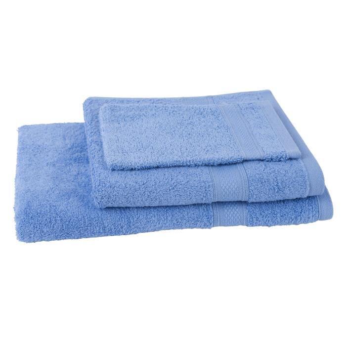 JULES CLARYSSE Lot de 1 serviette + 1 drap de bain + 1 gant de toilette Élégance - Gauloise