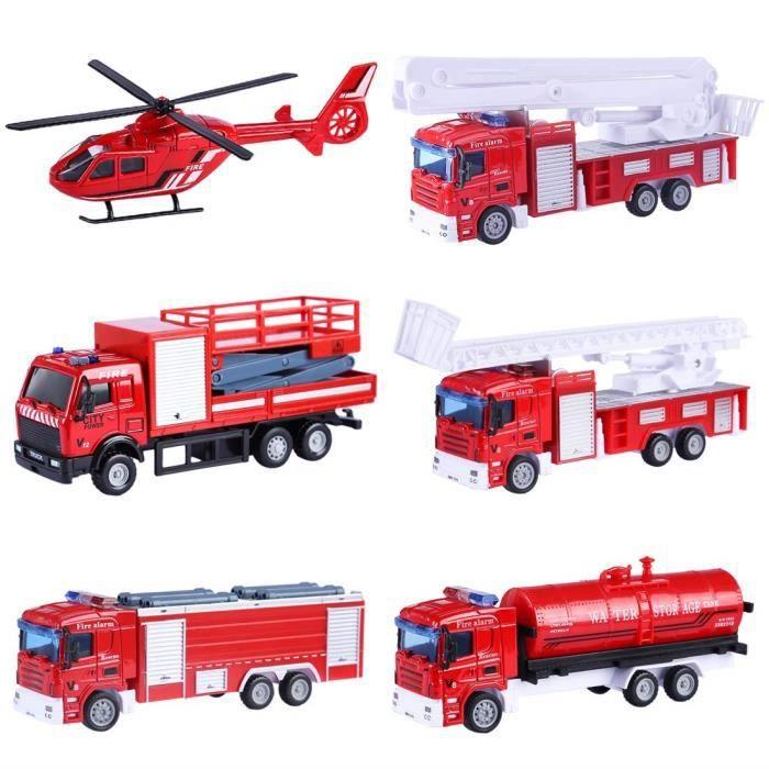 Partir Friction Anscamion Mignon 1pcs Pompier Miniature À Véhicule Camion Jouet Enfants De Pour Chantier 3 Voiture WEDIH92Y