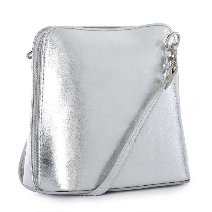 53f48cd273 Femmes Mini cuir véritable sac à main Croix-corps italien IHDHT ...
