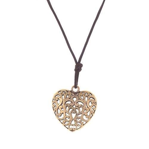 Womens Shining Diva Antique Gold Brown Alloy Material Pendant ForB93G1