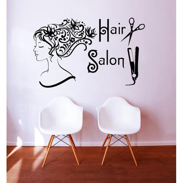 Noir stickers muraux pour chambre de jeune fille - Stickers muraux pour salon ...