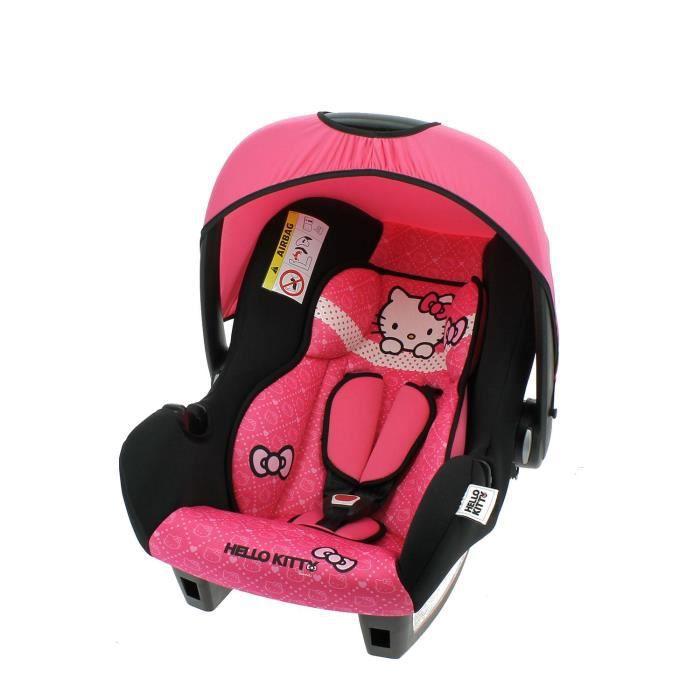 SIÈGE AUTO Siège auto bébé Hello Kitty Groupe 0+ de 0 à 13 kg