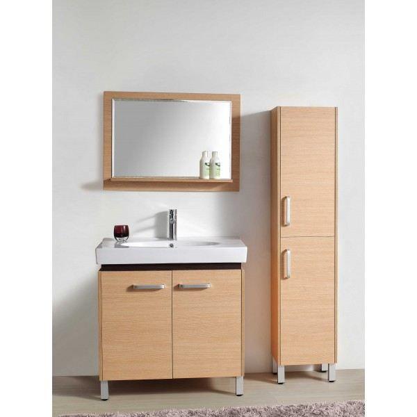 Meuble de salle de bain sur pieds avec colonne achat for Salle de bain design avec meuble pour lavabo avec colonne