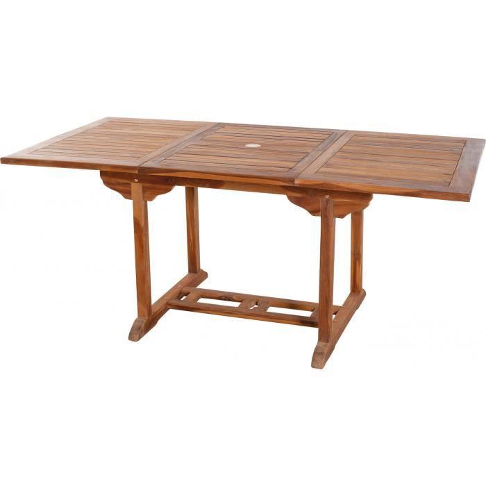 Table de jardin extensible 120 - 180 cm en bois de teck massif ...