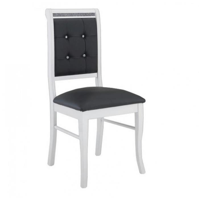 lot de chaise noir et blanc achat vente lot de chaise noir et blanc pas cher soldes d s. Black Bedroom Furniture Sets. Home Design Ideas