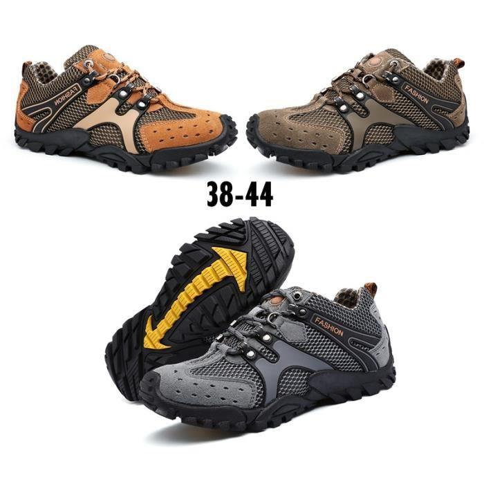 Botas De Marque Pour Sport D'escalade Bottes Hommes En Chaussures Mode Randonnée Plein Air Montagne mwN8n0
