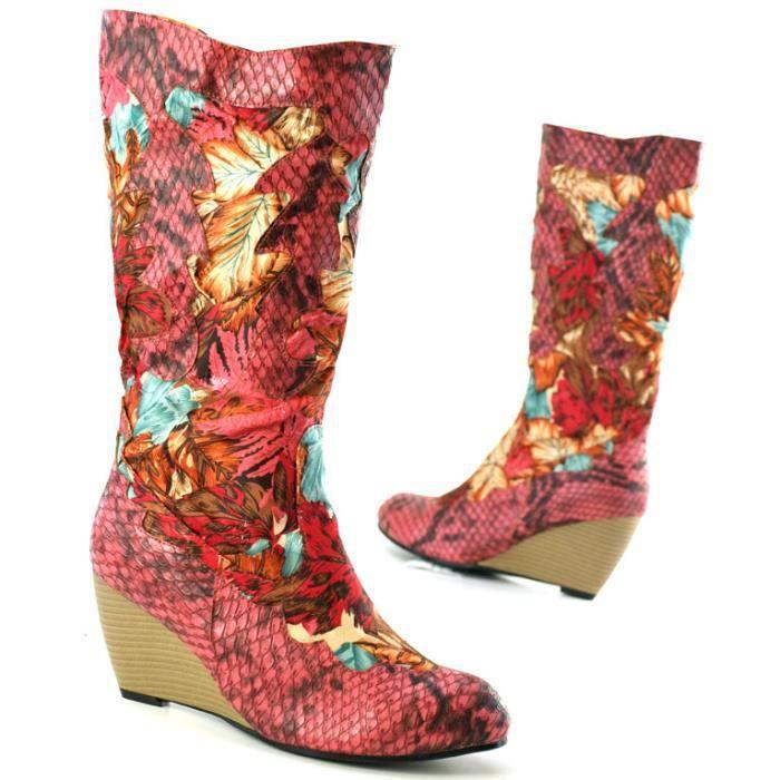 Mandaley Designer femmes bottes Ital 2011 rose 37