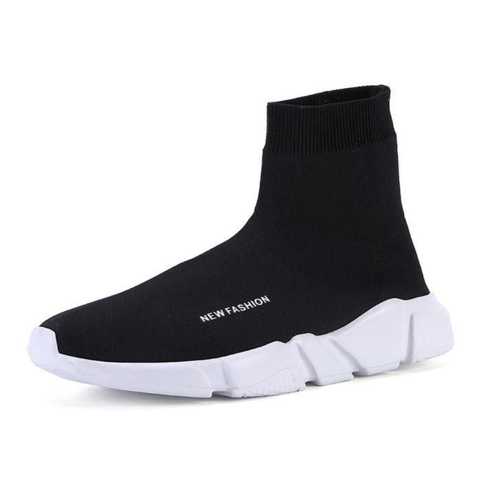 mi-bottes femmes Beau personnalité Chaussures décontractées Antidérapant Chaud Sneaker femme Respirant Chaussu dssx416noir36 tNnCM