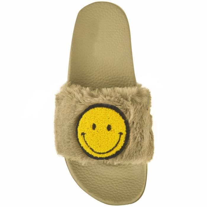 Vente Lauren Flip Flop Wide Band Faux Furry Sandal Slipper Pour (couleurs assorties) L1UH7 Taille-37