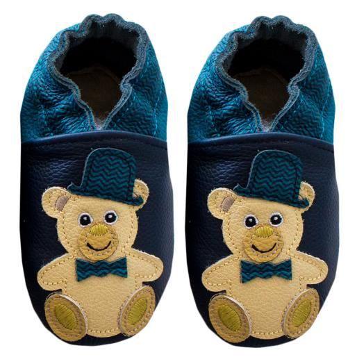 Chaussures en cuir RCC 141 06-01819 Chaplin Bear Navy