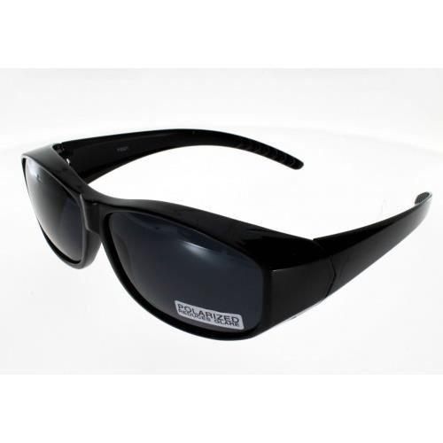 AD SOL FIT OVER, sur-lunettes noires, taille ML, polarisées Adulte Protection 100% UV 400 Indice 3