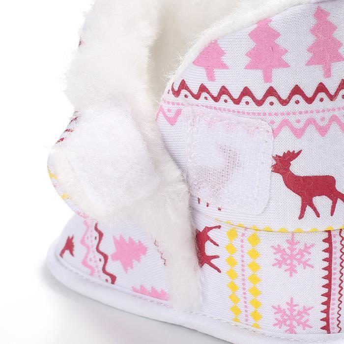 Noël Elk Baby Soft Sole Bottes de neige Berceau doux Bottes tout-petitsNoël HM7642 6d6iA1RmN