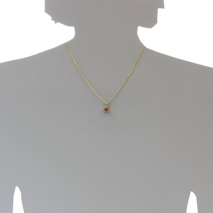 0040100013401 - Pendentif Femme - Or Jaune 8 Cts 333-1000 - Corail KP1SO
