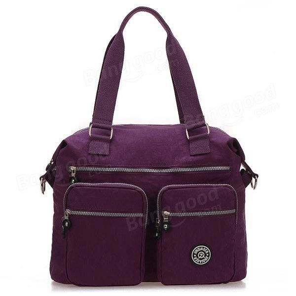 SBBKO3122Femmes sacs à main en nylon occasionnels sacs à bandoulière imperméable poche multiples crossbody extérieure sacs Noir