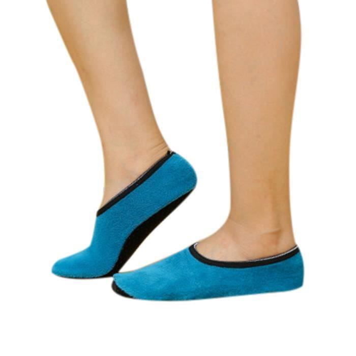 Femmes filles non Slip chaussons polaires chaud pince pantoufles yoga chaussettes sport SB-YSZ70929491SB_1001