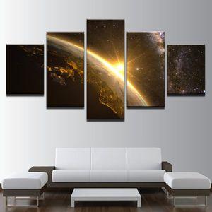 TABLEAU - TOILE No Frame tableau toile peinture  5 Pièces Planète