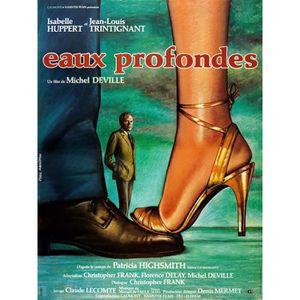 AFFICHE - POSTER EAUX PROFONDES reproduction affiche de cinéma en 6