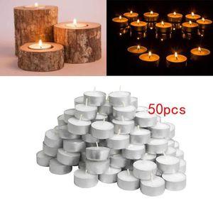 Mini Combustion 50pcs 4 Heures Blanc De Non Parfumées 5 Bougies kuXTZPOi