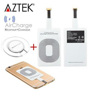 CHARGEUR TÉLÉPHONE AZTEK® AirCharge Récepteur Chargeur sans fil de QI
