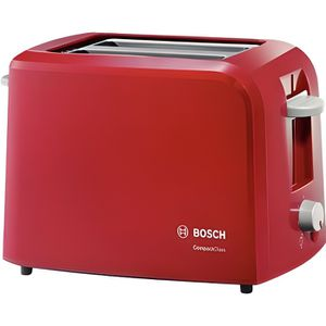 GRILLE-PAIN - TOASTER BOSCH TAT3A014 Grille-pain CompactClass - Rouge