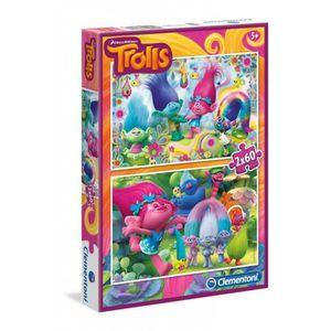 PUZZLE TROLLS Puzzles 2x60 pièces