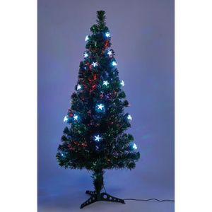 SAPIN - ARBRE DE NOËL Sapin vert de Noël - H 120 cm - Fibre optique + 20