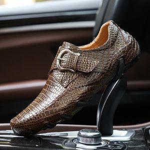 chaussures multisport Homme de conduited'affaires respirante Mocassins en cuir décontractée avec Buckles noir taille8.5 o7r9yZZp2z