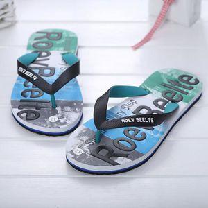 CHAUSSON - PANTOUFLE Hommes été couleurs mélangées chaussures sandales