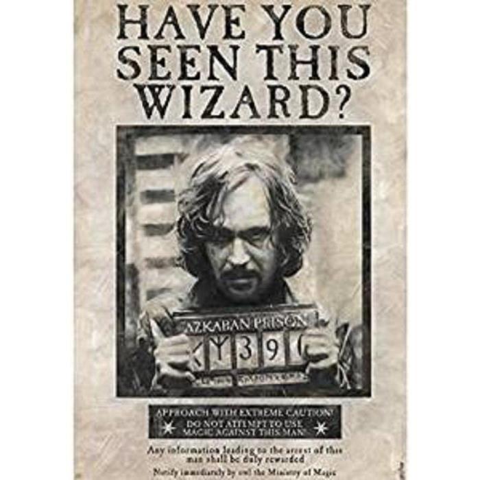 Poster Harry Potter - « Wanted Sirius Black » roulé filmé (91.5x61) - ABYstyle