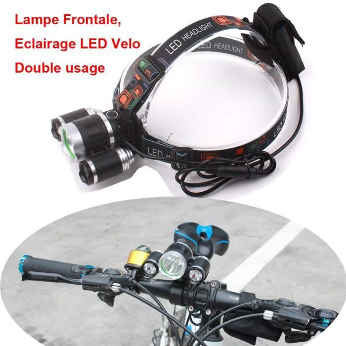 Lampe Frontale Led Lampe Vtt Led Puissante Lampe Velo Eclairage
