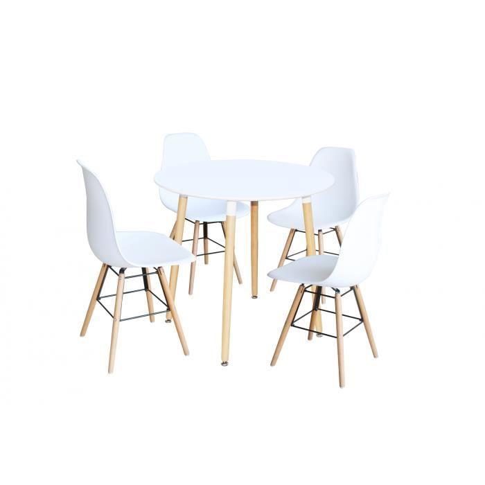 Ensemble table ronde et chaise achat vente pas cher - Ensemble table ronde 4 chaises ...