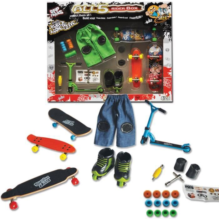 Fingers Skate Grip and Tricks : Coffret All 5 Riders