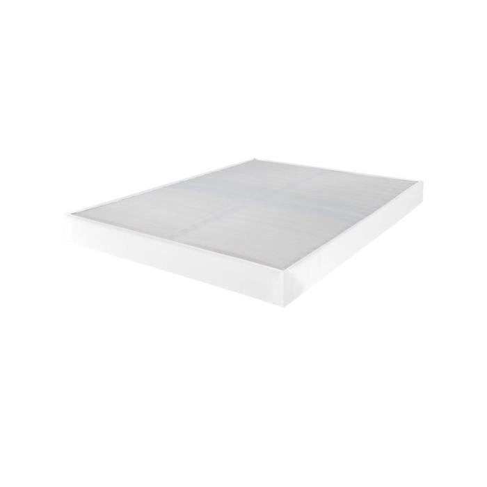 SOMMIER Sommier tapissier 120x190 Omega simili blanc 2x16