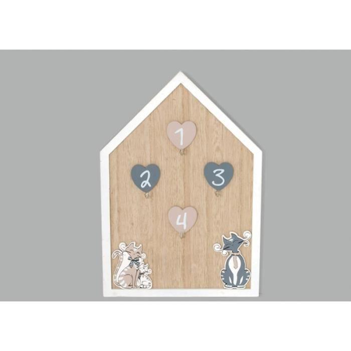 ARMOIRE - BOITE A CLÉ Accroché clés -  Kidcat - Support à clés mural