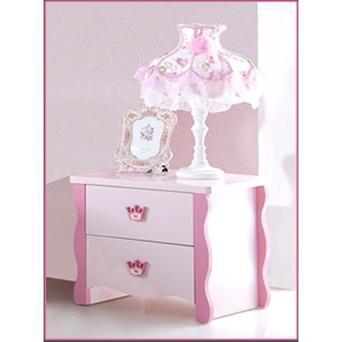 table de chevet pour chambre fille princess rose achat vente chevet table de chevet pour. Black Bedroom Furniture Sets. Home Design Ideas