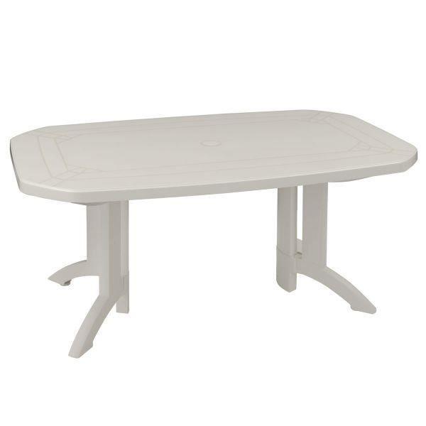 Table de jardin Vega 165x100 GROSFILLEX - Taupe - Achat / Vente ...